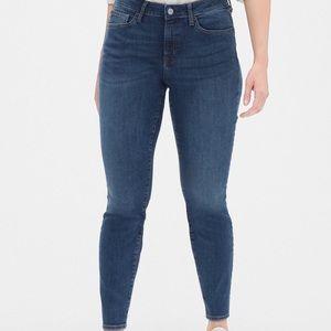 Gap curvy true skinny jeans medium dark wash